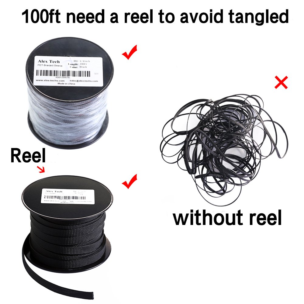 Amazon.com: 100ft - 1/4 inch Flexo PET Expandable Braided Sleeving ...
