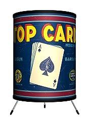 "Lamp-In-A-Box TRI-VLB-TOPCA Vintage Labels - Top Card Tripod Lamp, 8.0"" x 8.0"" x 14.0"""