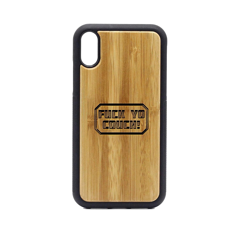 newest 12b27 e93fd Amazon.com: Fuck YO Couch - iPhone XR Case - Bamboo Premium Slim ...
