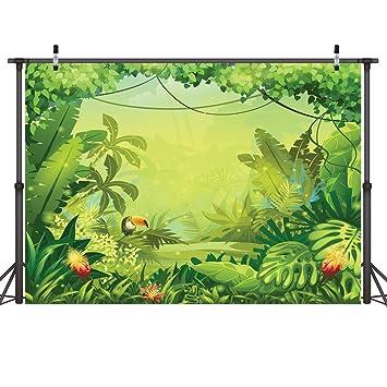 amazon com lywygg 7x5ft thin vinyl animation jungle photography