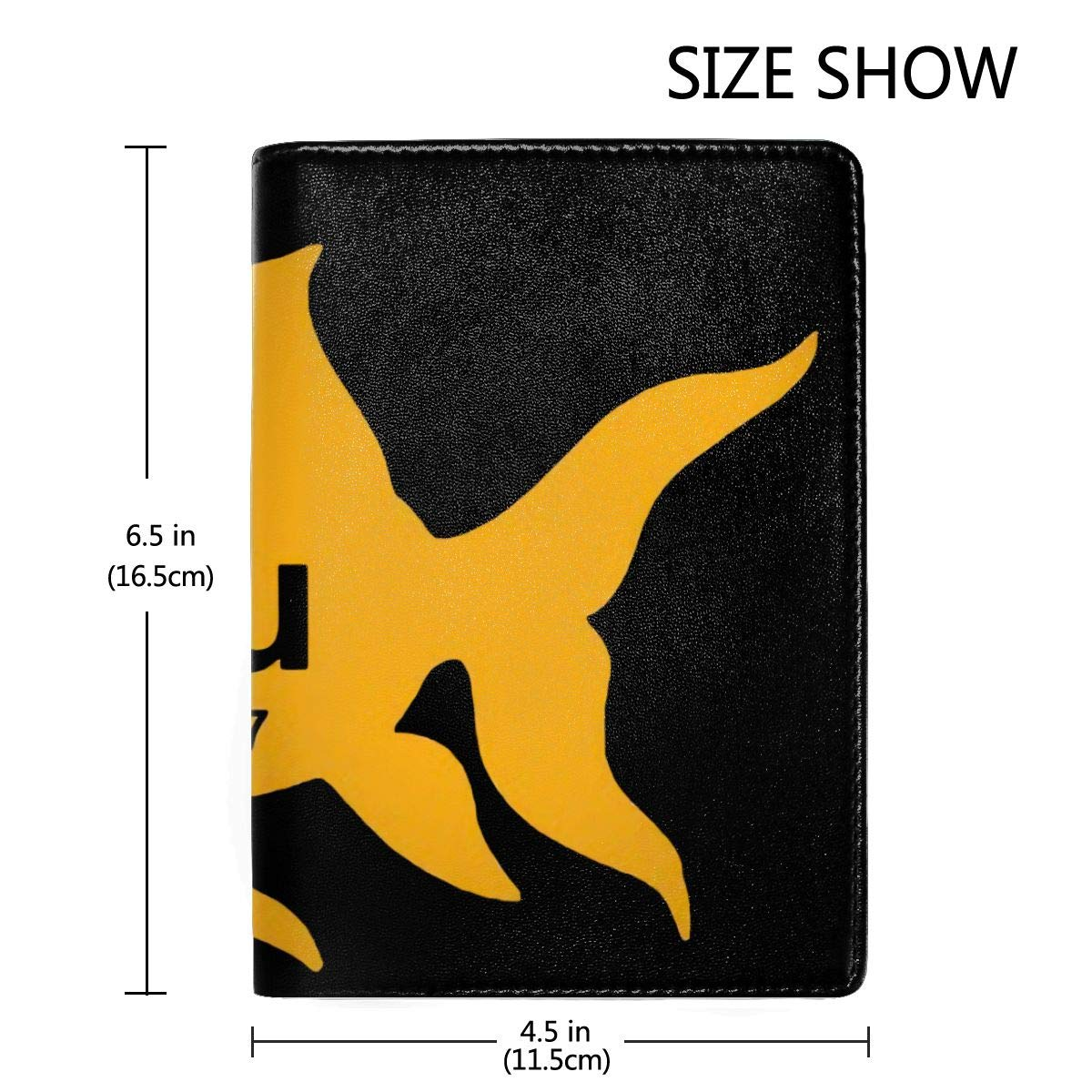 Periodic Table Elemental Gold Fish Fashion Leather Passport Holder Cover Case Travel Wallet 6.5 In