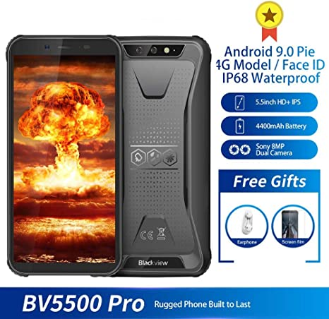 Robusto teléfono 4G, BV5500 Pro teléfonos Android, 5.5 pulgadas HD ...