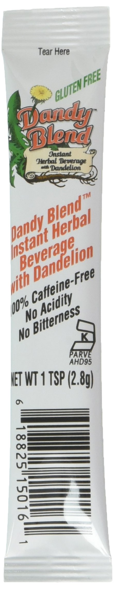 Dandy Blend Instant Herbal Beverage With Dandelion Caffeine Free 25 Single Serving Pouches