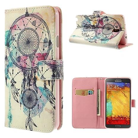 NALIA Funda Libro para Samsung Galaxy Note 3 Neo, Carcasa con Tapa Ultra-Fina Flip-Case Cover Cubierta Cuero Sintético Protectora Bumper para Telefono ...