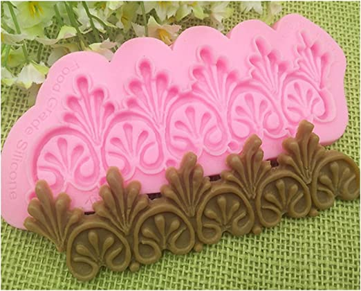 Silicone Sculpted Flower Lace Mould Cake Mold Decor Pastry Cooking Tool 6T