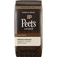 Peet's Coffee, Peetnik Pack, French Roast, Dark Roast, Whole Bean Coffee, 20 oz. Bag, Bold, Intense, & Complex Dark Roast Blend of Latin American Coffees, with A Smoky Flavor & Pleasant Bite