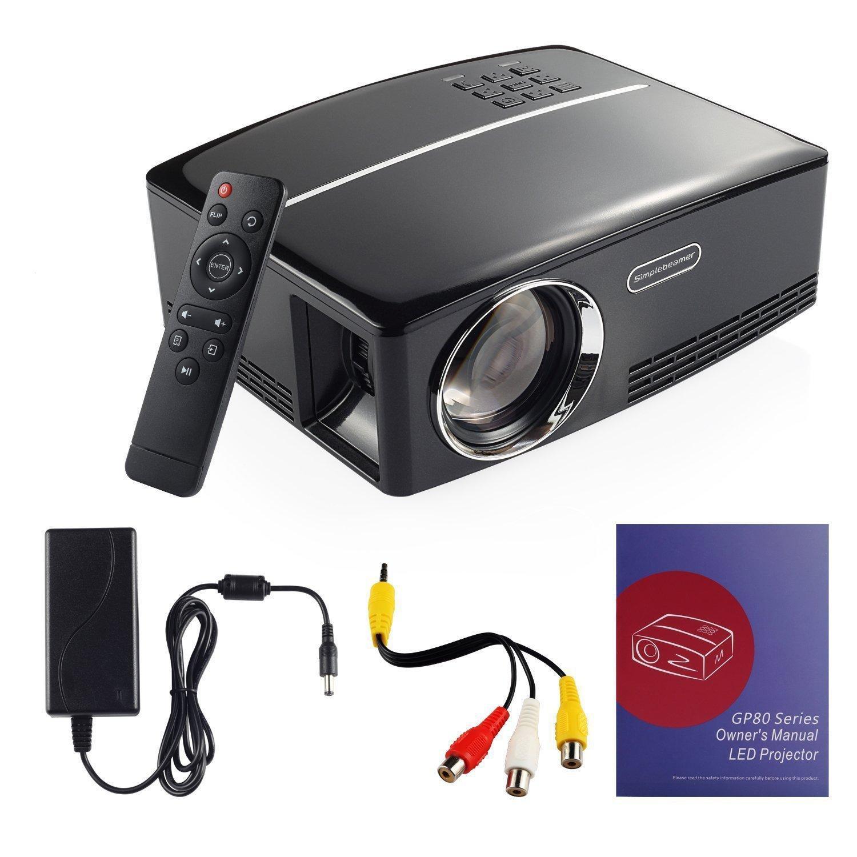 Mini proyector multimedia portátil 1800 lúmenes cine en casa ...