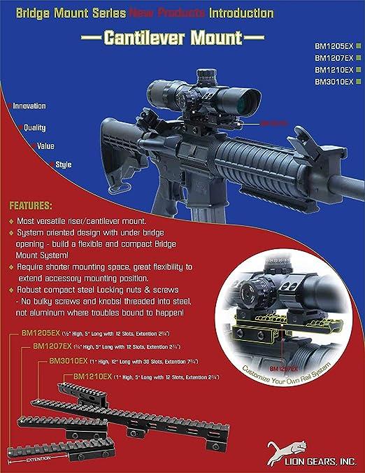 11mm-Schienen-Montag Jagdgewehr Picatinny Schiene mit 10 Slots und 124mm L/änge Jagdgewehr//Luftpistole Weaver Jagd-Bereich Berg XBF-HUNT