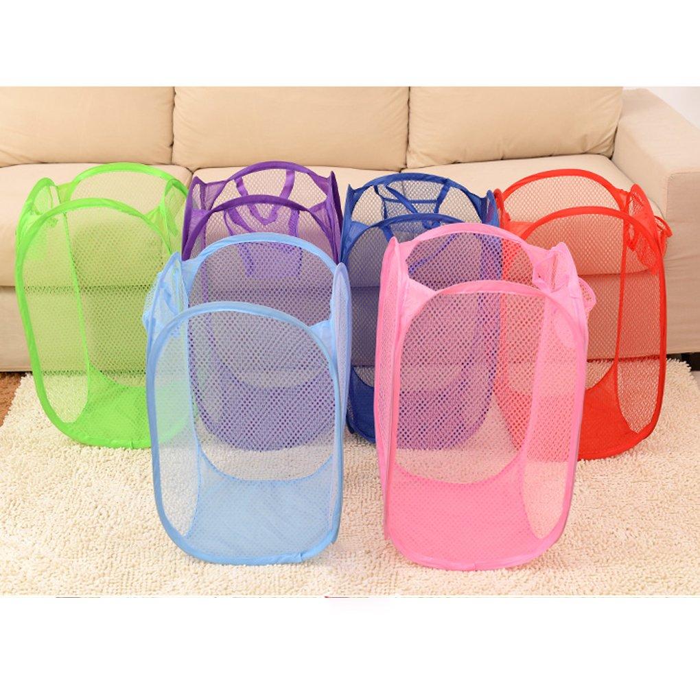 Topker Panier pliable de stockage de panier de lavage de maille pliable pour des vêtements sales de jouet