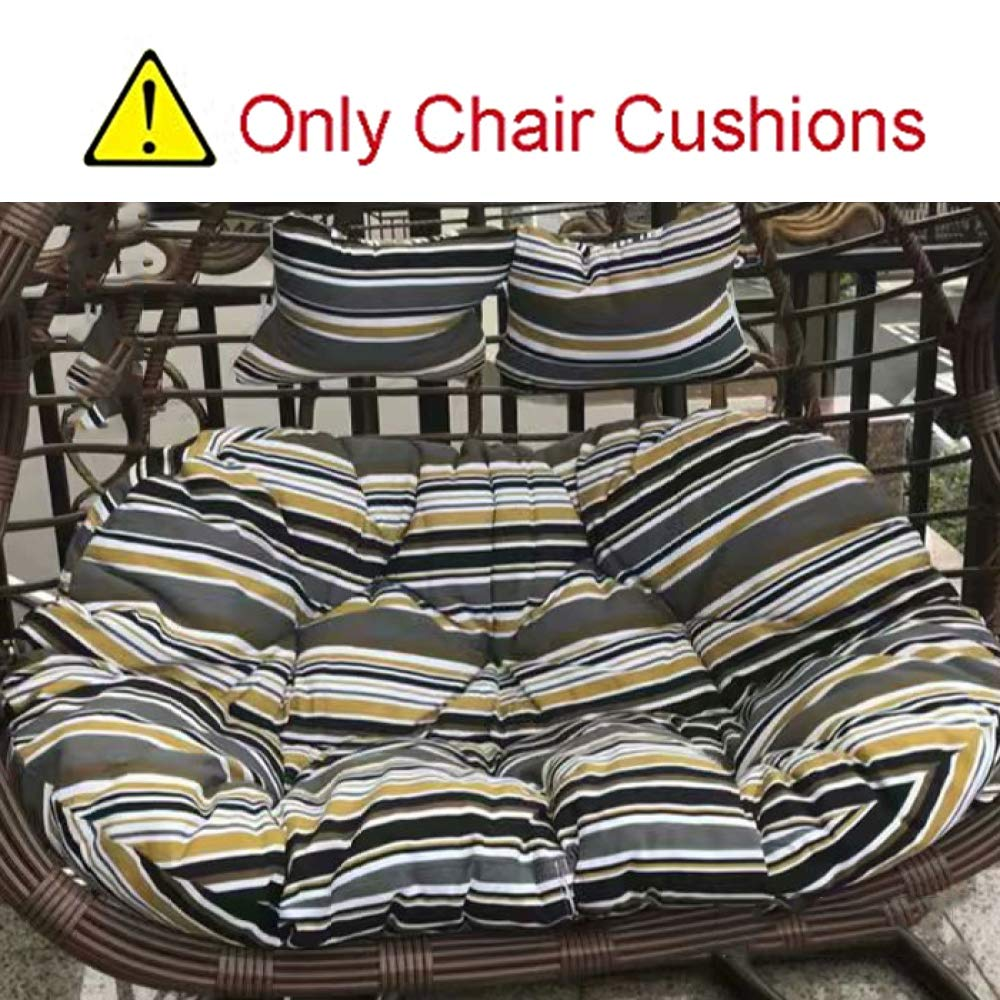 MonthYue Thicken Swing Chair Cushion Washable Large Double Seat Thick Nest Single Basket Hanging Egg Hammock Chair Cushions Removable,D by MonthYue