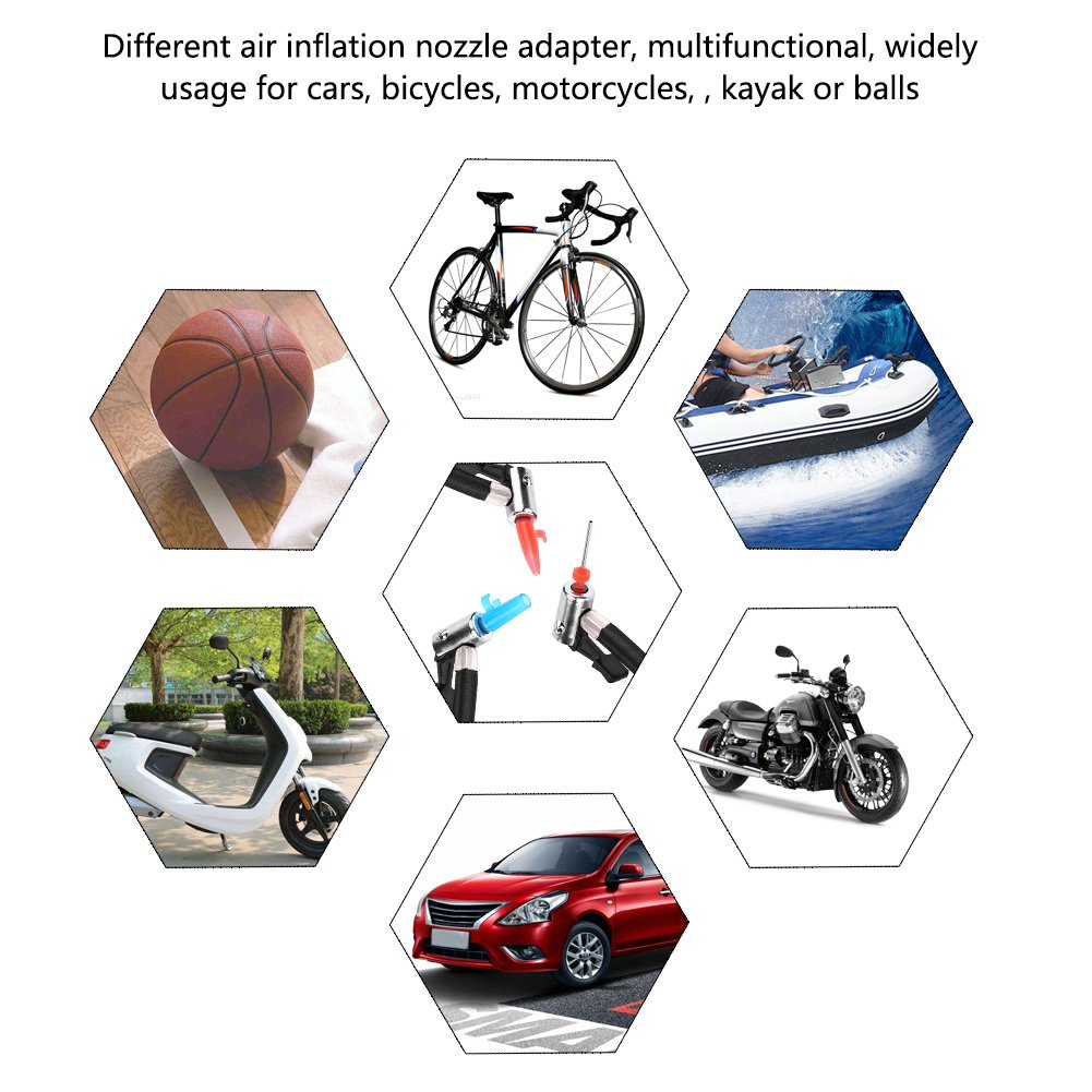 Portable Tire Inflator Acouto Auto Air Compressor Pump 12V DC with Needle Indicator For Cars Bicycles Balls RV and Other Inflatables