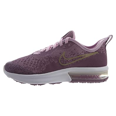 wholesale dealer 7bdcf 7c657 Nike Air Max Sequent 4 Running Shoe Violet Dust Metallic Gold Star Size 3.5  M