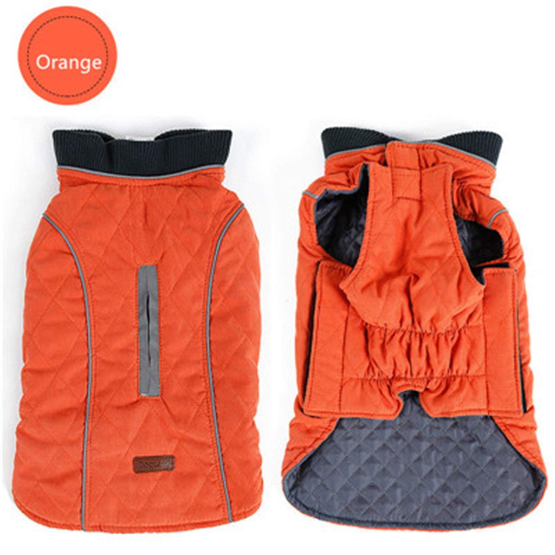 orange XL orange XL New Winter Coat Retro Design Cozy Winter Dog Pet Jacket Vest Warm Pet Outfit Clothes Dor Dogs 6 colors O