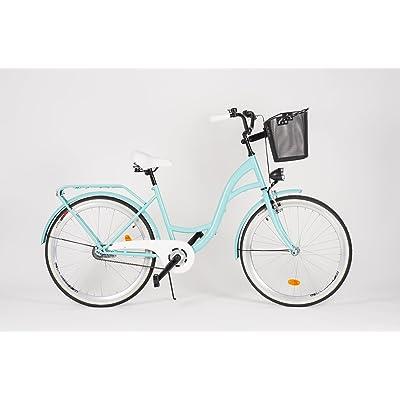 Milord. 2018Ville Confort Vélo avec panier, femmes Dutch Style, 1vitesse, Aqua, 71,1cm