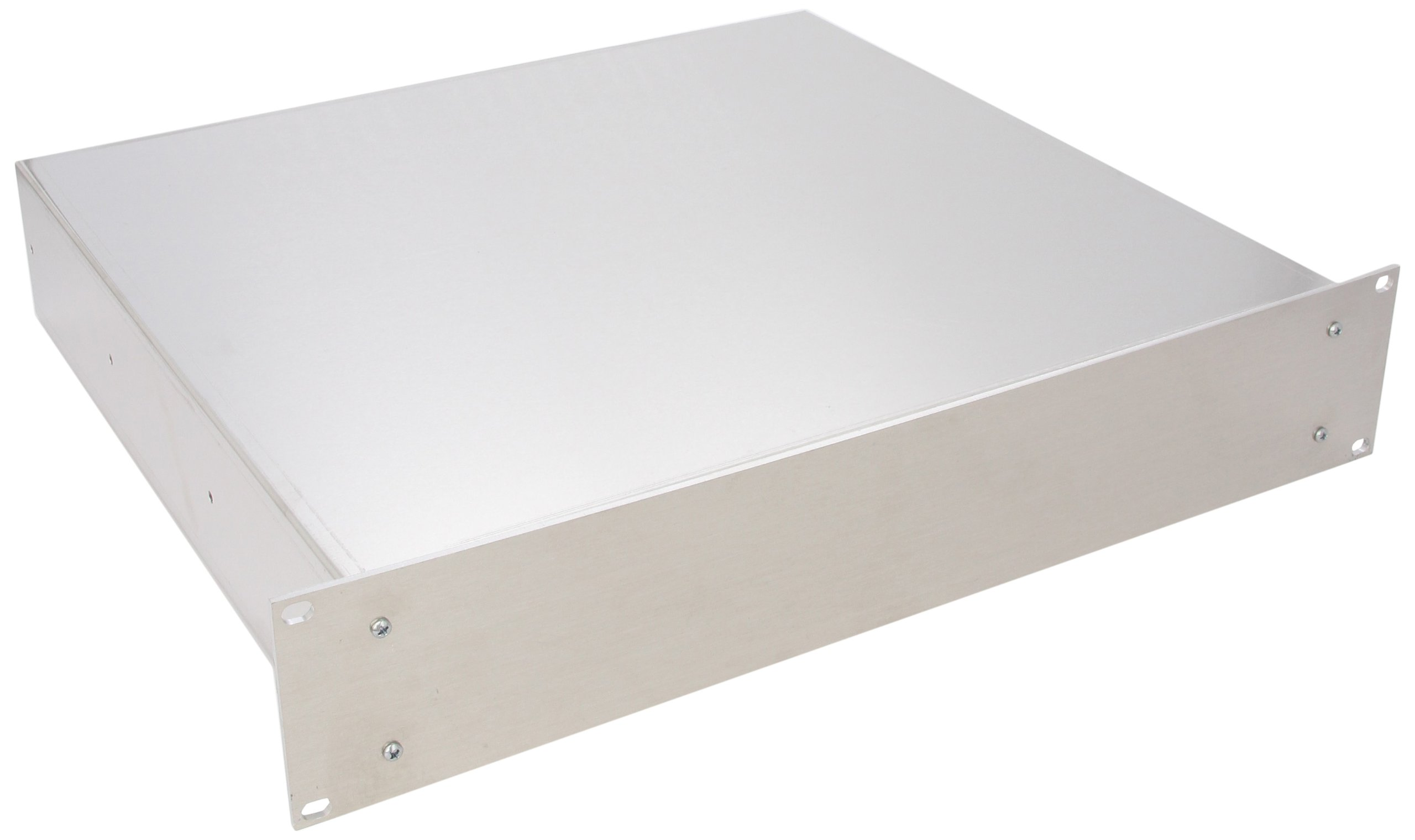BUD Industries CH-14404 Aluminum Small Rack Mount Chassis, 17'' Width x 3-1/2'' Height x 16'' Depth, Natural Finish