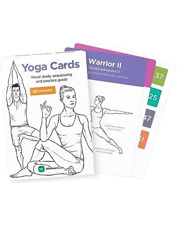 WorkoutLabs Tarjetas plásticas de Yoga con Lengua sánscrito para Principiante Estudio Visual, secuenciación de Clases