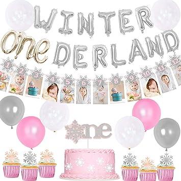 Amazon.com: Invierno Onederland decoraciones de cumpleaños ...