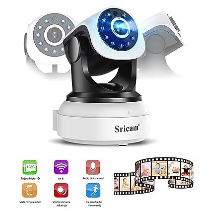 YKS WiFi Cámara IP Camera Cámara HD con IR Visión Nocturna Seguridad, orientable (Detección