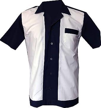 1950s/1960s Rockabilly, Bowling, Retro, Vintage Mens Shirt: Amazon.es: Ropa y accesorios