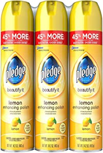 Pledge Furniture Spray, Lemon (14.2oz, 3pk.)
