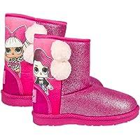 Cerdá L O L Surprise! | Bottes Filles | Chaussures d'hiver Décontractées | Doublure Polaire Confortable | Bottes de Neige | Conception de Pom Pom et Scintillant! |