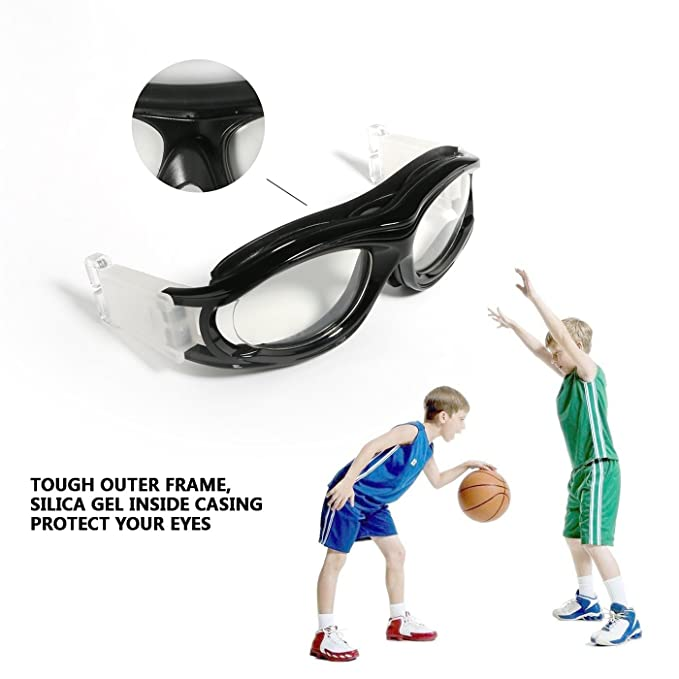 358c2f8f2d Amazon.com   Kids Sports Goggles Outdoor Eye Protection Impact-resistant Glasses  Eyewear with Adjustable Strap Removable Headband for Children Basketball ...
