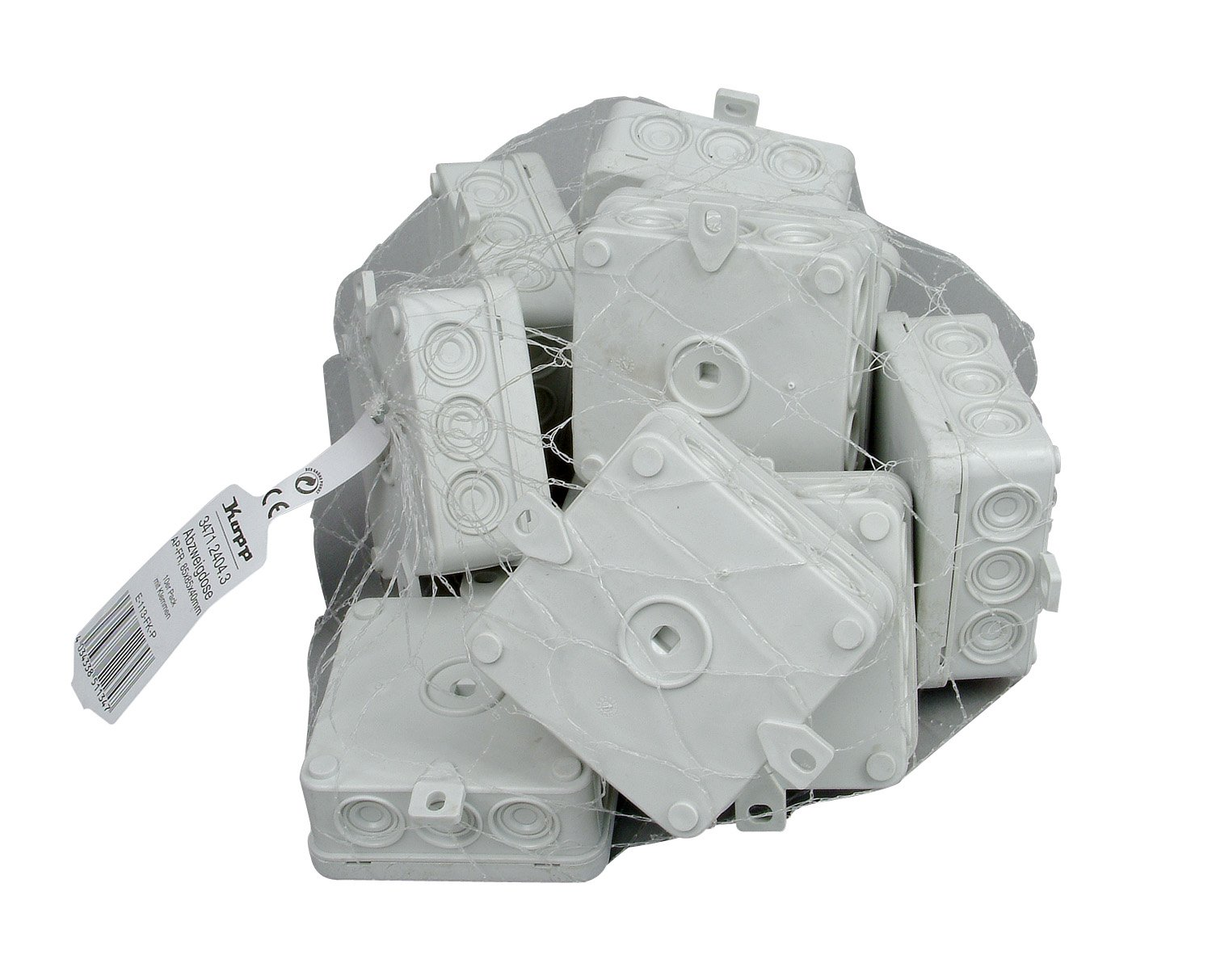 Kopp 347114008 Junction Box Surface-Mount for Wet Rooms with 5-Pin Connecting Terminal Plate IP 54/85 x 85 x 40 mm