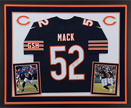 hot sale online 61f3b 3576f Khalil Mack Chicago Bears Deluxe Framed Autographed Nike ...