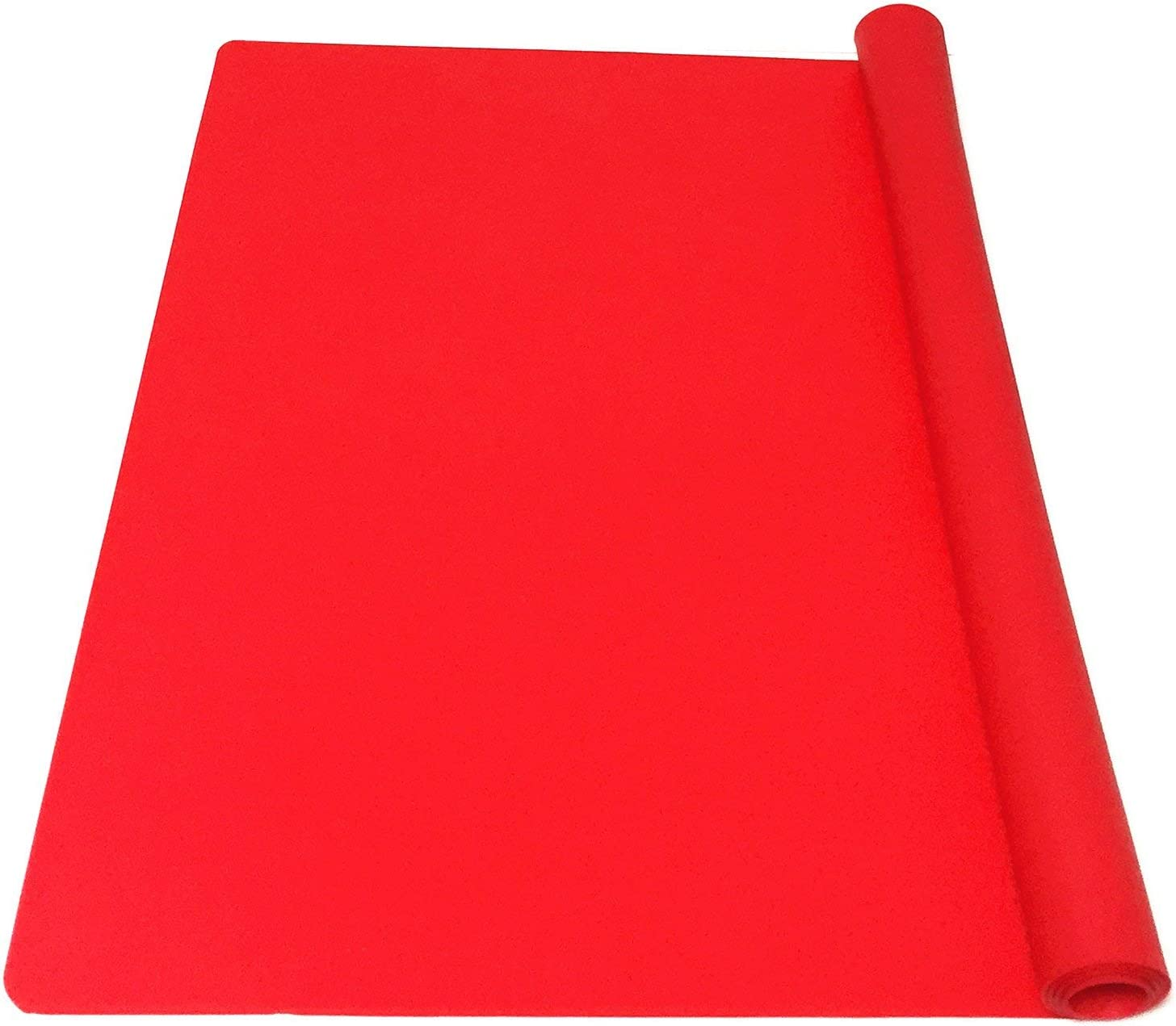 EPHome Extra Large Multipurpose Silicone Nonstick Pastry Mat, Heat Resistant Nonskid Table Mat, Countertop Protector, 23.6''15.77'' (Red)