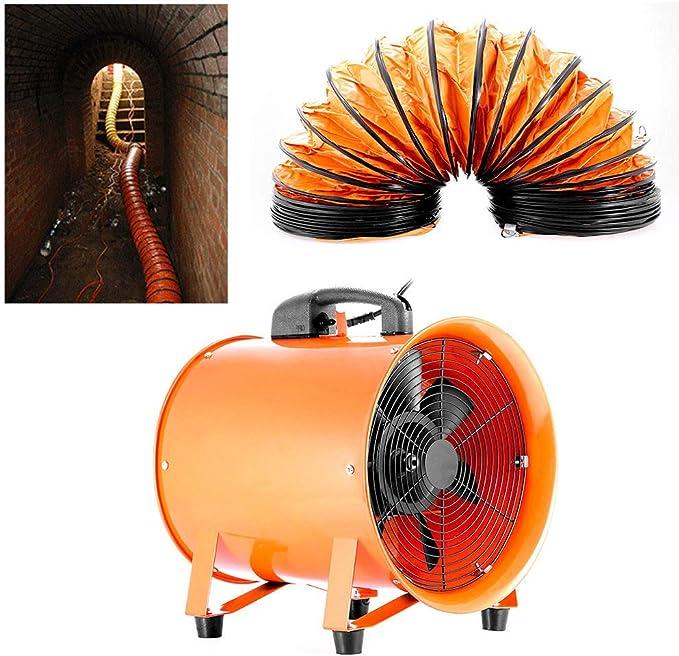 DiLiBee - Ventilador industrial Ventilador Extractor Portátil Axial apuntador taller extractor ventilador taller (300 mm de PVC de 5 m) con Conduit: Amazon.es: Bricolaje y herramientas