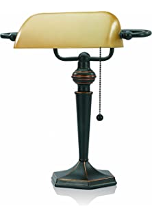 Upgradelights Replacement Glass Bankers Lamp Shade Green Desk Lamp ...