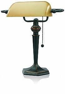 V-LIGHT with Replaceable LED Bulb Desk Task Lamp, Antique Bronze (8CAVS91045BRZ)