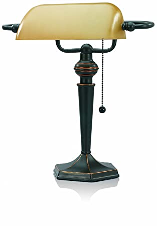 Amazon v light traditional style cfl bankers desk lamp with v light traditional style cfl bankers desk lamp with amber glass shade cavs91045brz mozeypictures Image collections