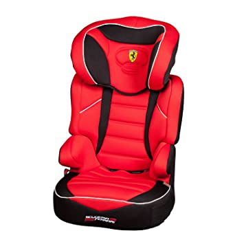 Ferrari Child Car Seat Booster Seat Group 2 3 15 To 36 Kg 100 French Manufacture Side Guards Padded And Adjustable Headrest Amazon De Baby