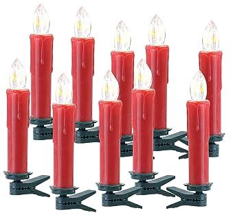 Weihnachtsbeleuchtung Zubehör.Lunartec Zubehör Zu Christbaumkerzen Funk 10er Erweiterungs Set