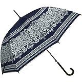 macocca(マコッカ) 晴雨兼用 UVカット 遮光率99% レース柄 シルバーコーティング ジャンプ傘