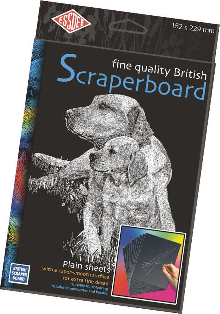 Essdee Bristish Scraperboard, 229 x 152 mm, confezione da 5 fogli CSBB2-5