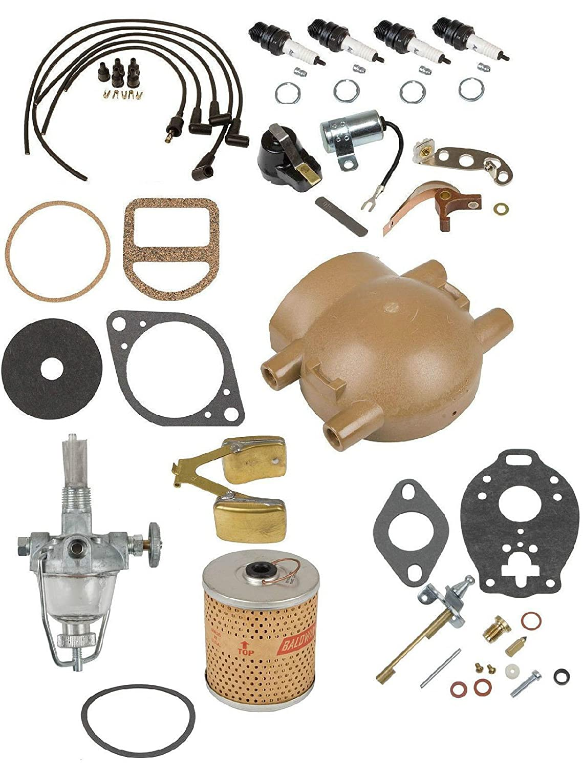 Comprehensive Maintenance & Tune Up Kit w/ Carb Float Ford 9N 2N 8N Front Mount Aftermarket