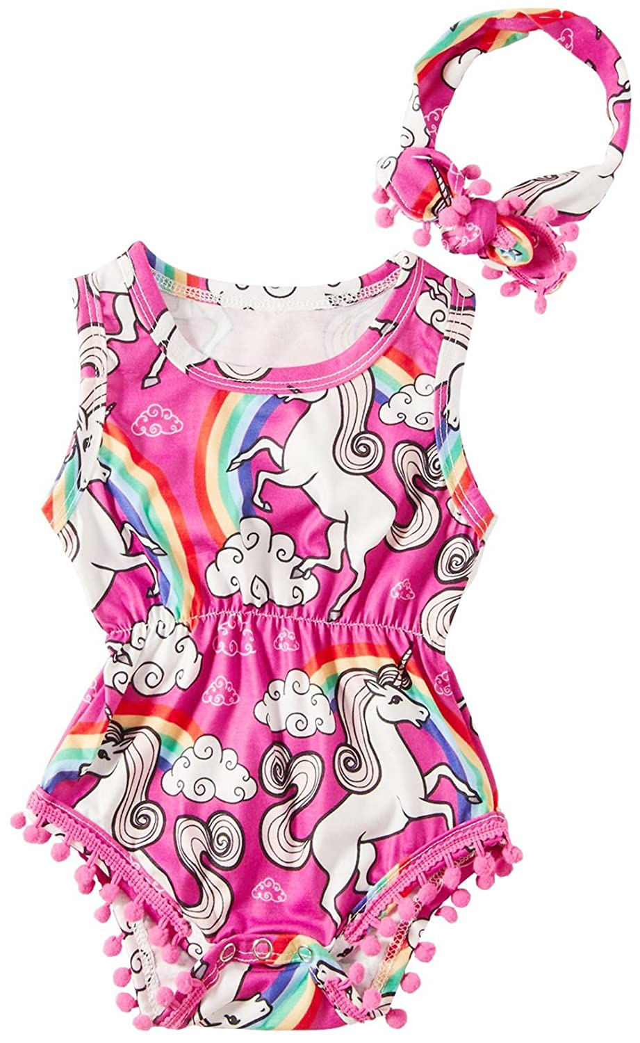 BFUSTYLE Girls Unicorn Set, Unicorn Dresses, Maxi Dress,Rompers,T-Shirt 0-13T WSY20180611A