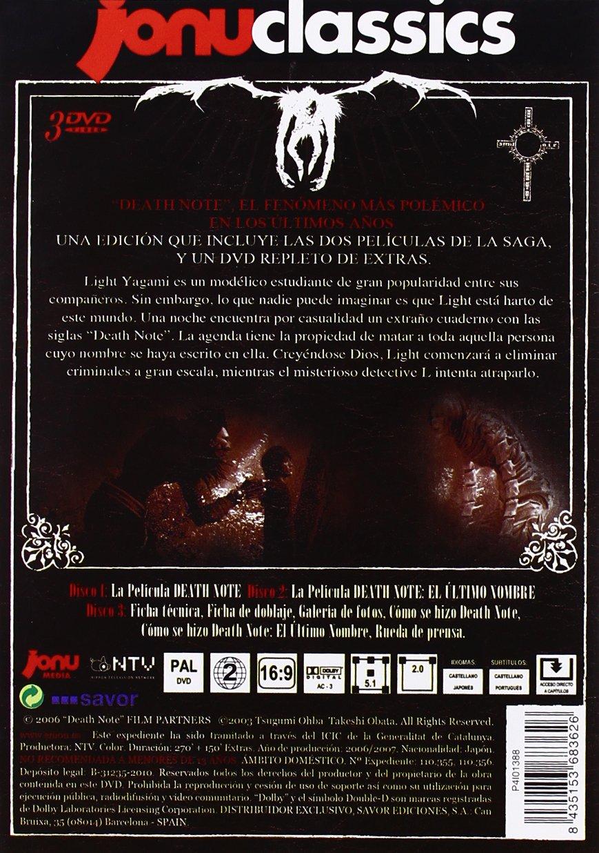 Death Note (3 Películas) [DVD]: Amazon.es: Tatsuya Fujiwara ...