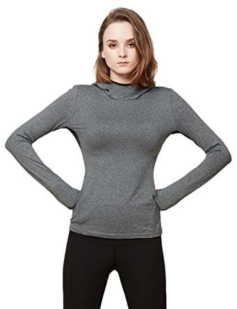 8748748a4e5bf1 LE3NO Womens Lightweight Zip Up Long Sleeve Active Sports Jacket Top with  Hoodie at Amazon Women s Clothing store