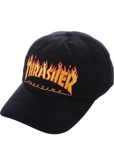 e278682269d Thrasher Magazine Flame Old Timer Hat Black  Amazon.co.uk  Clothing