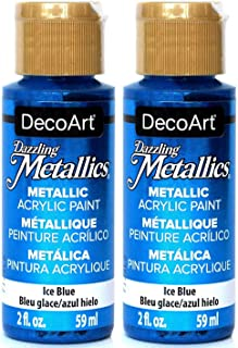 product image for 2-Pack - DecoArt Dazzling Metallics Acrylic Colors - Blue, 2-Ounces Each