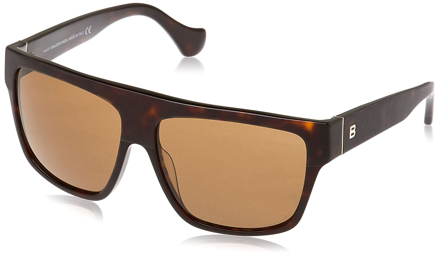 58//13//135 Balenciaga BA0056 women 52J Geometric acetate HAVANA//BROWN