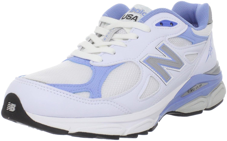 New Balance Women's 990V3 Running Shoe B005P21EJ4 8 B(M) US White/Blue