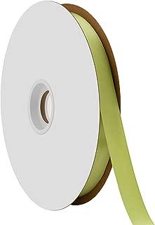 "product image for Offray Berwick 5/8"" Single Face Satin Ribbon, Lemon Grass Green, 100 Yds"