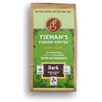 Tieman's Fusion Coffee, Low Acid Dark Roast, Whole Bean, 10-Ounce bag