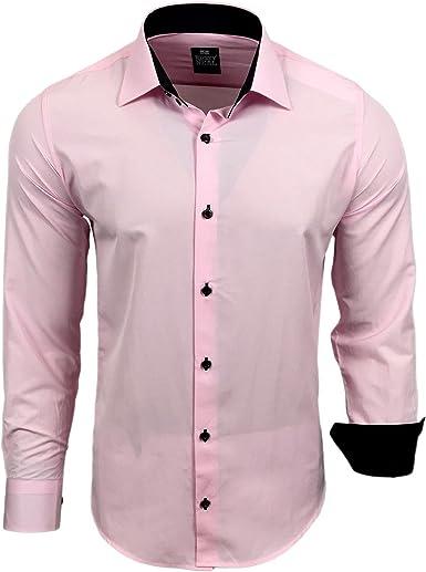Rusty Neal - Camisa Casual - para Hombre Rosa Small: Amazon.es: Ropa y accesorios