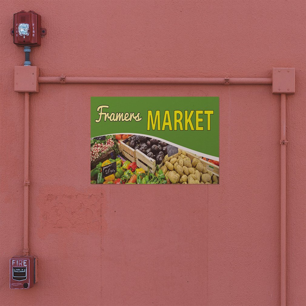 Decal Sticker Multiple Sizes Farmers Market #4 Business Farmers Market Outdoor Store Sign Green 72inx48in Set of 2