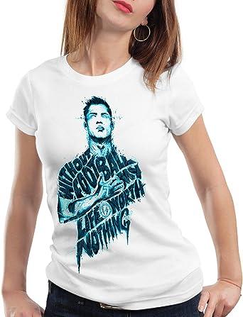 CottonCloud Football is Life Camiseta para Mujer T-Shirt españa fútbol Spain Blanco: Amazon.es: Ropa y accesorios
